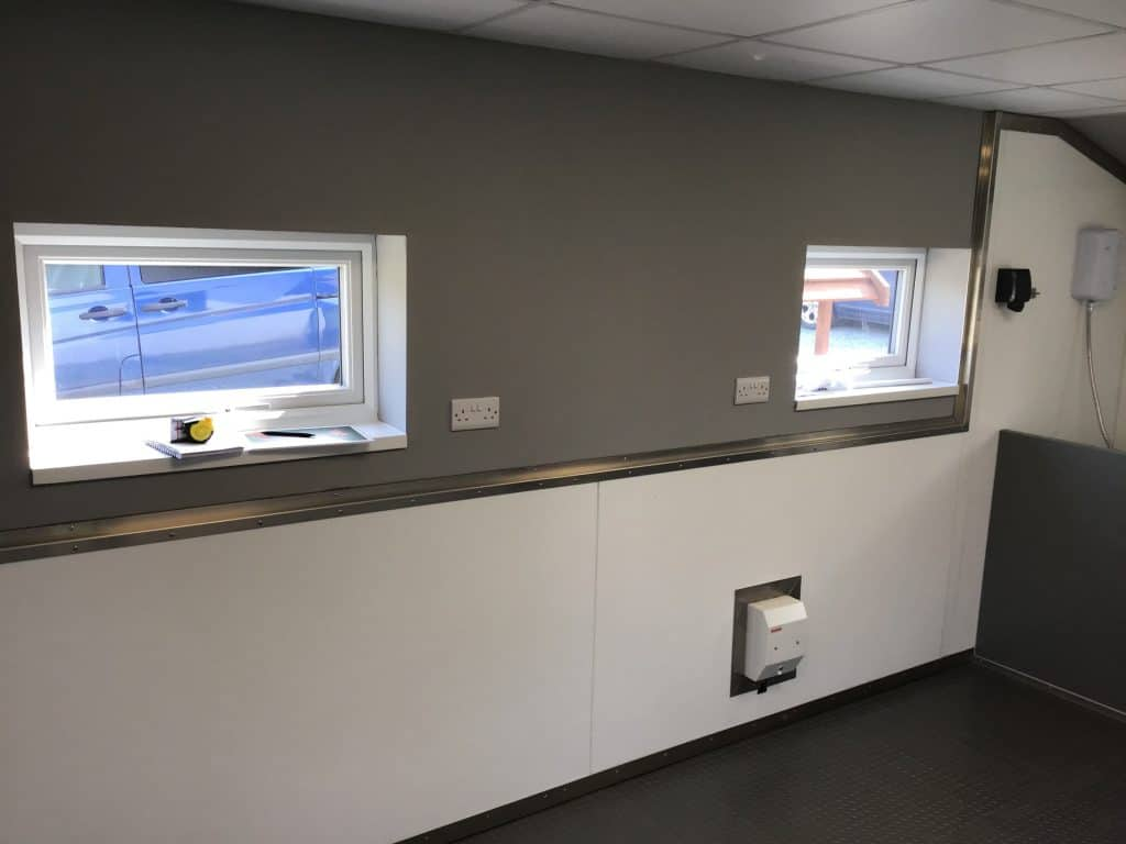 New windows and electrics at the spa room